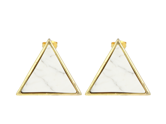 Náušnice magnezit - tvar trojuholník