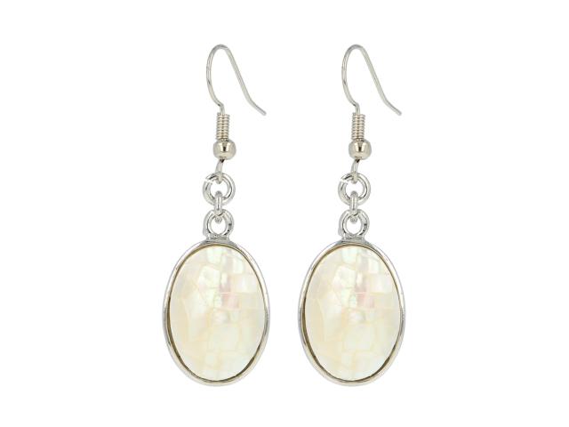 Náušnice biela perleť