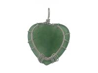 Drôtovaný prívesok strom života a srdce avanturín
