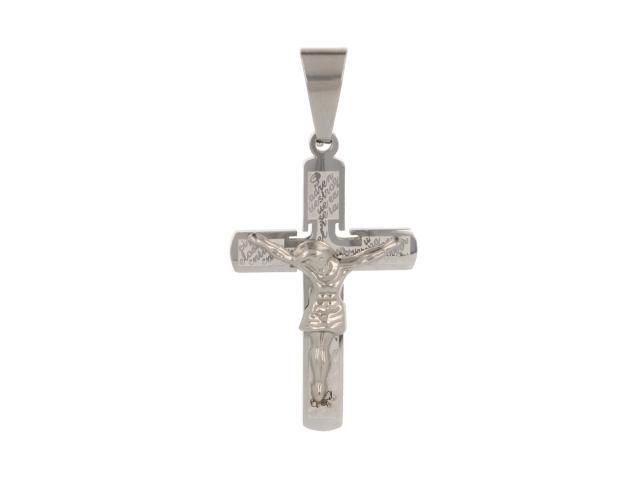 Oceľový prívesok kríž II