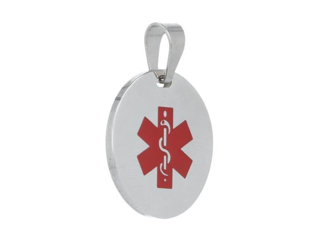 Oceľový okrúhly ID prívesok Medical
