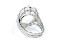 Nastaviteľný prsteň krištáľ oválneho tvaru