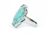 Nastaviteľný prsteň tyrkenit oválneho tvaru