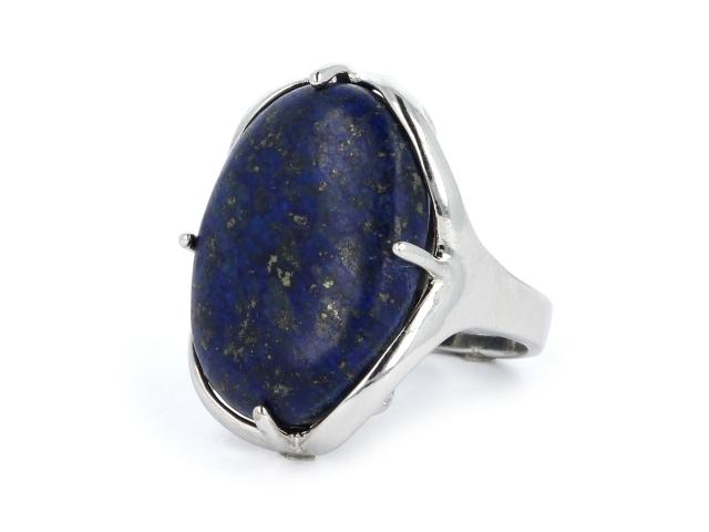 Nastaviteľný prsteň lapis lazuli oválneho tvaru
