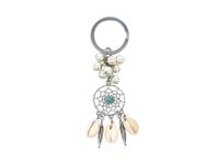 Kľúčenka tyrkenit, shell perly a mušľa Kauri - lapač snov