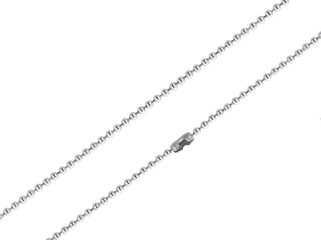 Oceľová retiazka - guličková - 2mm - 40cm