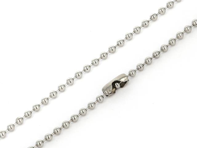 Oceľová retiazka - guličková - 2,4mm - 60cm