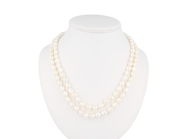 Dlhý náhrdelník 12-13mm riečne perly - 120cm