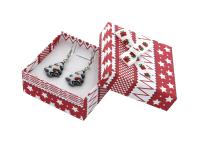 Vianočná darčeková krabička Red 60x60x25 mm