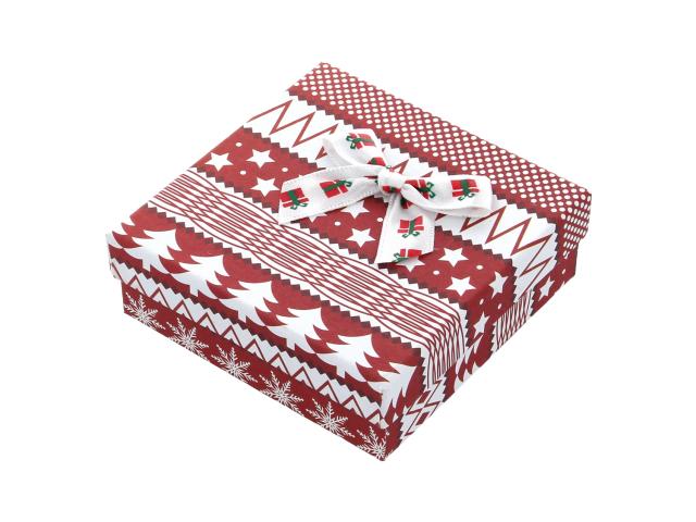 Vianočná darčeková krabička Red 90x90x28 mm