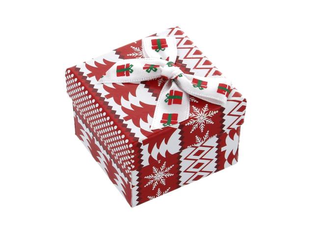 Vianočná darčeková krabička Red 50x50x35 mm