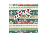 Vianočná darčeková krabička Green 90x90x25 mm