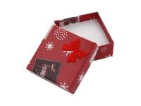 Vianočná darčeková krabička 60x60x25 mm