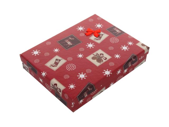 Vianočná darčeková krabička 127x165x35 mm