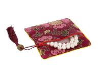 Hodvábne vrecko na zips so strapcom - bordové II