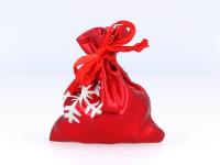 Červené darčekové vrecko Vianoce 50x70 mm
