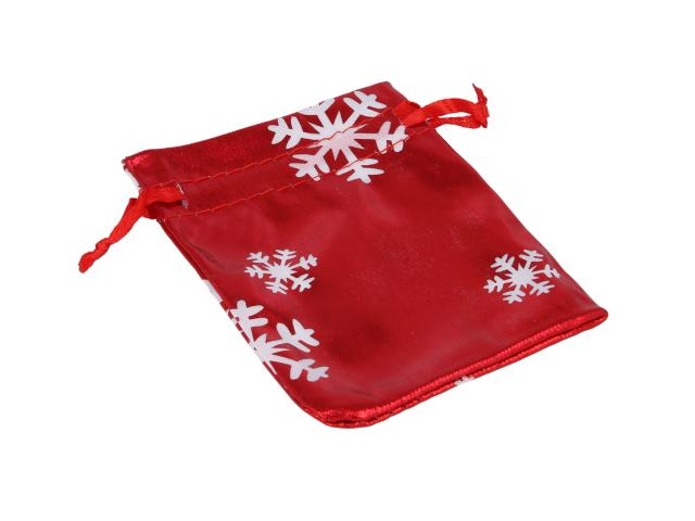 Červené darčekové vrecko Vianoce 70x90 mm