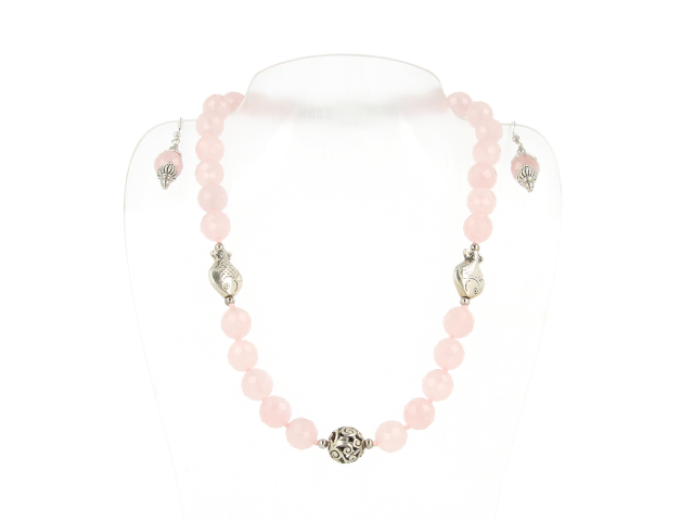 Súprava náhrdelník a náušnice ruženín 12mm
