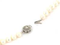 Náhrdelník biele okrúhle 8-9mm riečne perly