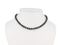 Náhrdelník 7-8mm čierne riečne perly