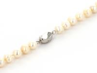Náhrdelník 7-8mm biele riečne perly