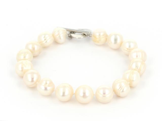 Náramok biele riečne perly