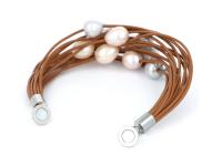 Náramok farebné riečne perly 11-12mm