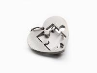 Dvojprívesok z chirurgickej ocele - puzzle srdce