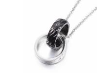 Oceľové náhrdelníky pre páry - prstene