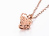 Oceľové náhrdelníky pre páry - včeličky