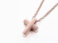 Oceľové náhrdelníky pre páry - krížiky