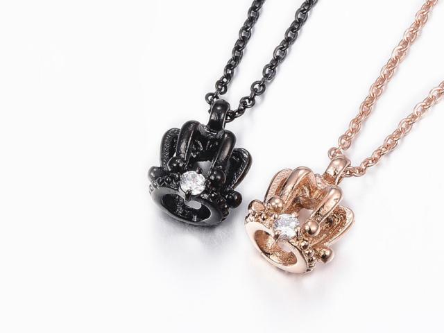 Oceľové náhrdelníky pre páry - koruny
