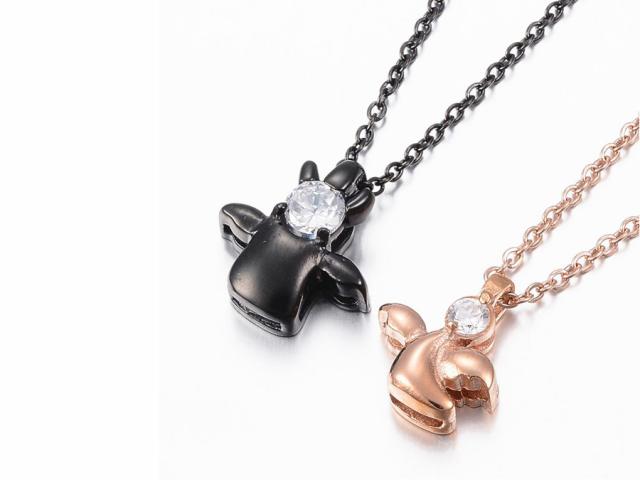 Oceľové náhrdelníky pre páry - anjel a čert