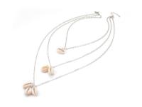 Trojradový náhrdelník natural mušle Kauri