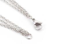 Oceľový trojradový náhrdelník rôzne mušle