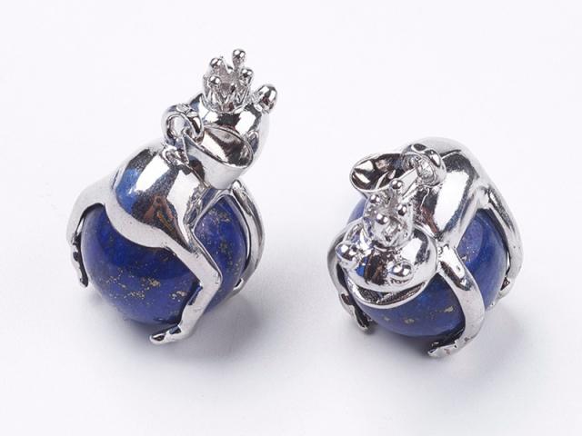 Prívesok lapis lazuli a žabí princ