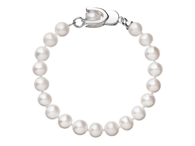 Perlový náramok z pravých riečnych perál biely