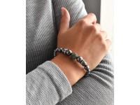 Perlový náramok sivý