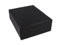 Čierna šperkovnica z ekokože 240x190x80 mm