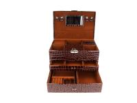 Hnedá šperkovnica z ekokože 295x200x226 mm