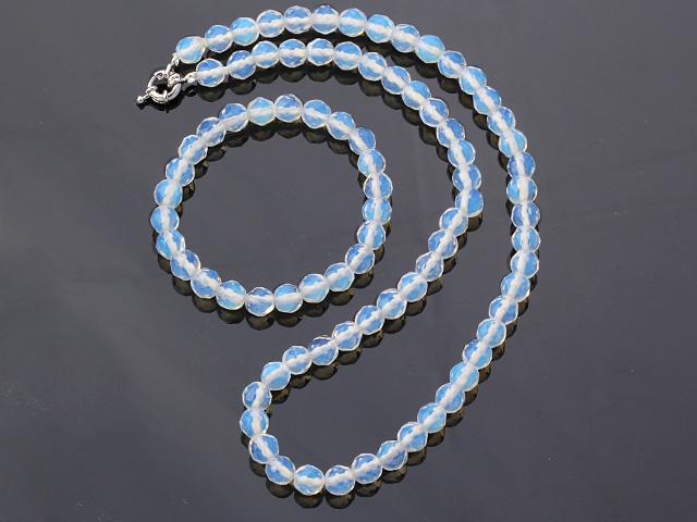 Súprava náhrdelník a náramok opalit 8mm